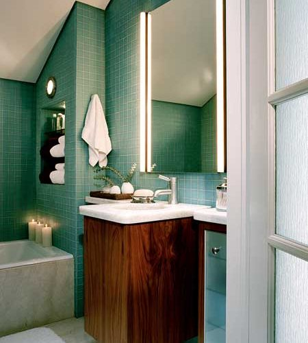 Light-Filled Spa Bathroom