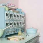 Vintage Aqua Kitchen