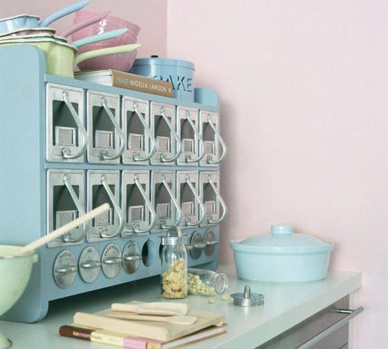 Vintage Aqua Kitchen
