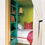 Aqua and Apple Green Bedroom Nook
