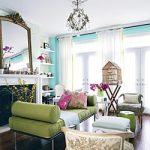 Distinctive Aqua Living Room
