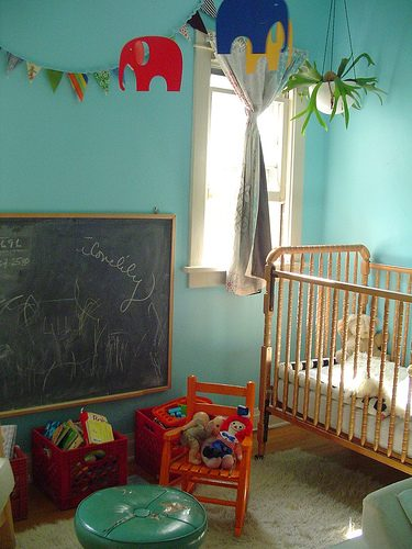 Turquoise Nursery for a Modern Tot