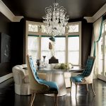Dark Walls, Chandeliers…and Turquoise