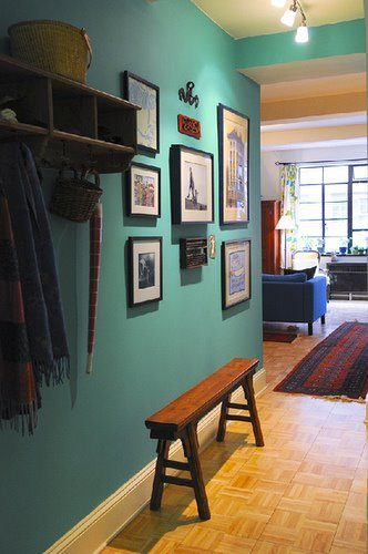Inviting Turquoise Entry Hall