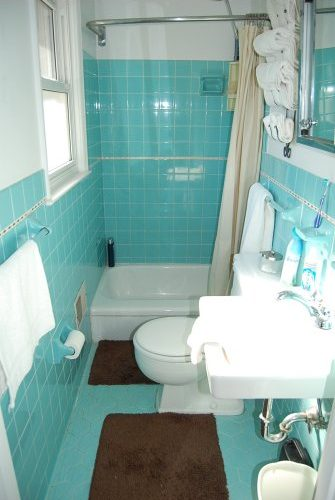 Time Capsule Aqua Bathroom
