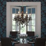 Chocolate and Teal Dining Room