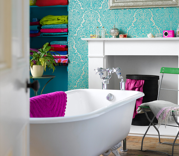 Vibrant Bathroom