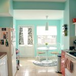 Cheery Turquoise and Red Kitchen