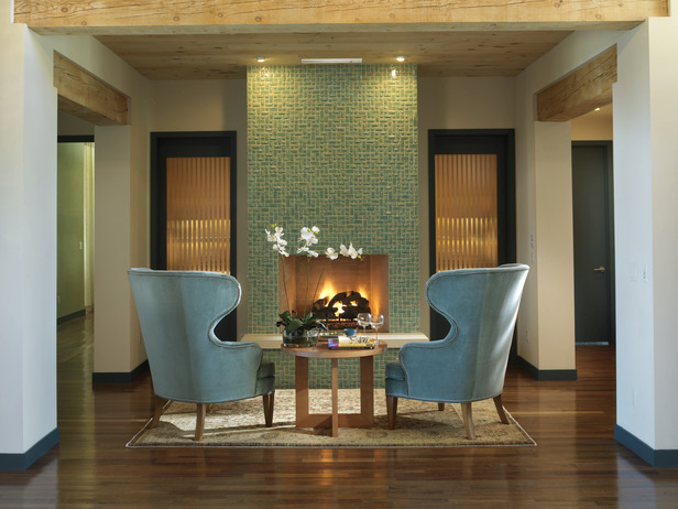 Turquoise Tiled Fireplaces & the Winner!