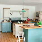 Turquoise and Cream Kitchen