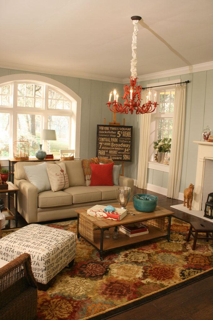 Painted Paneling Living Room: Remodelaholic & DIY Showoff