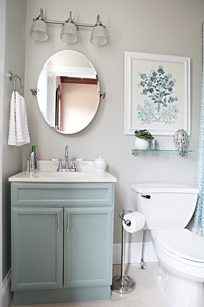 Bower Power Bathroom Makeover | House of Turquoise