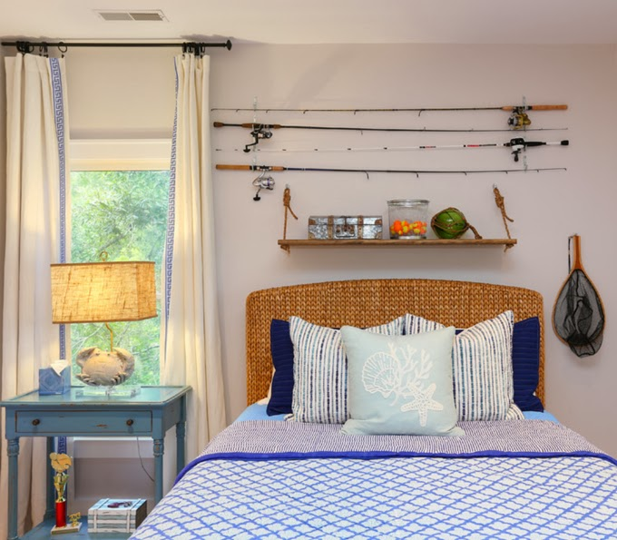 Cindy mihuc house of turquoise for Fishing bedroom decor