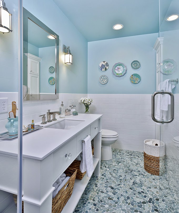 Oh How Iu0027d Love To Have A Spa Like Bathroom In My Home! Carla Aston, An  Interior Designer In The Woodlands, Texas, Recently Remodeled Her Upstairs  Bathroom ...