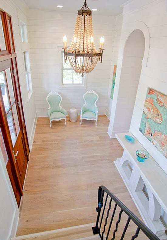 Beach House Foyer : Watercolor beach home house of turquoise