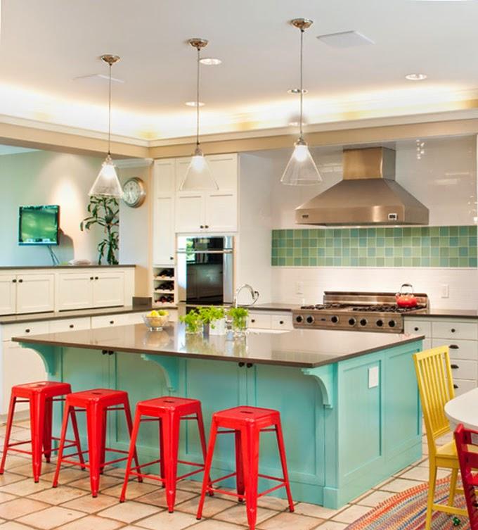 Turquoise Kitchen Decor: Tammara Stroud Design