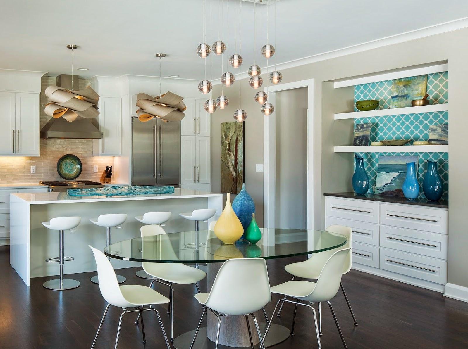 Guest blogger renae keller interior design house of for Teal kitchen wallpaper