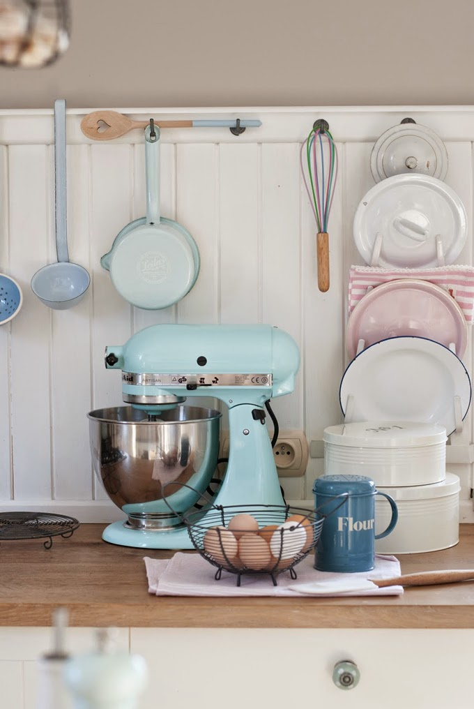 Cottage Style Pastel Kitchen