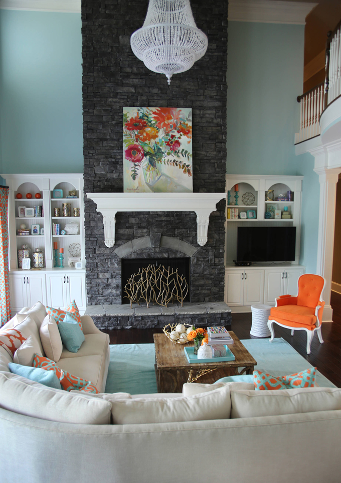 Blue And Orange Living Room Ideas: House Of Turquoise