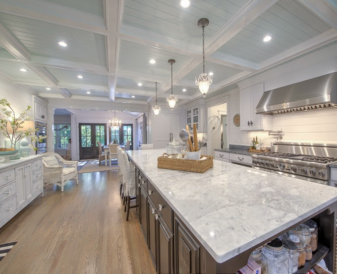 Beautiful cape cod home house of turquoise for Cape cod kitchens pictures