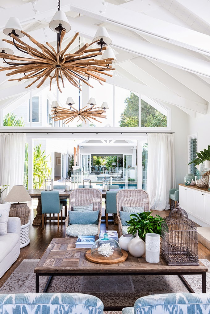 This Breezy Home Located In Southeastern Queensland On The East Coast Of Australia Belongs To Interior Designer Kate Gallie Cove Interiors And Her