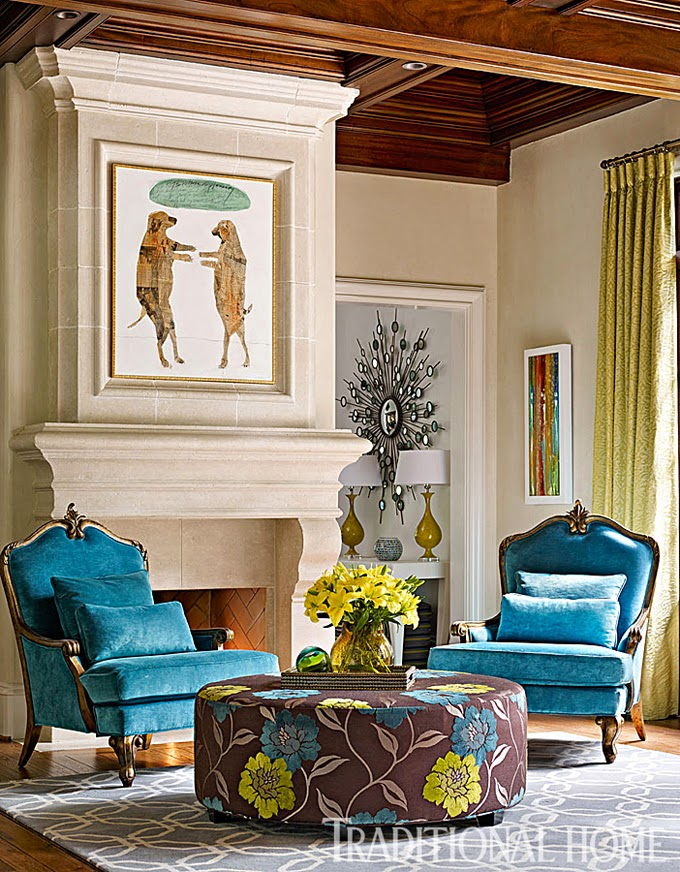 Harmonious living by tish mills interiors house of turquoise for Living room atlanta