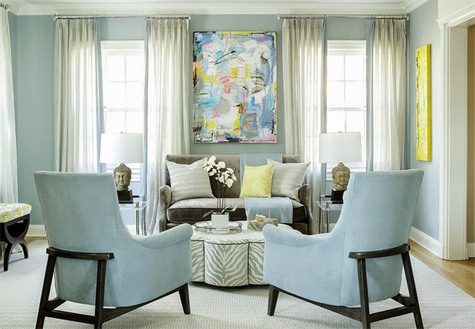 Color Outside The Lines Small Living Room Decorating Ideas: Karen B. Wolf Interiors