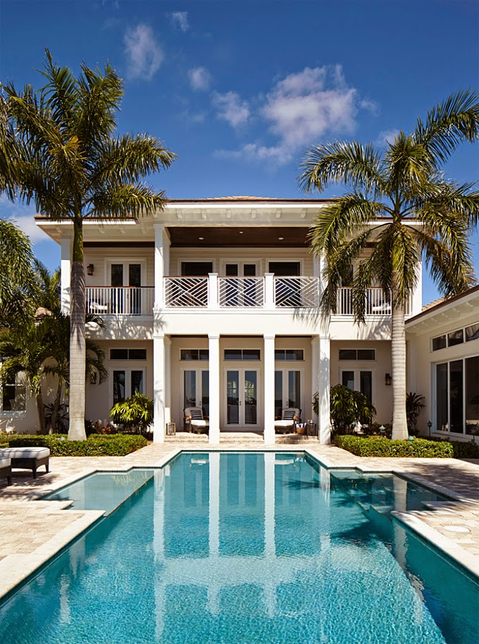 Jma interior decoration house of turquoise for Florida pool homes