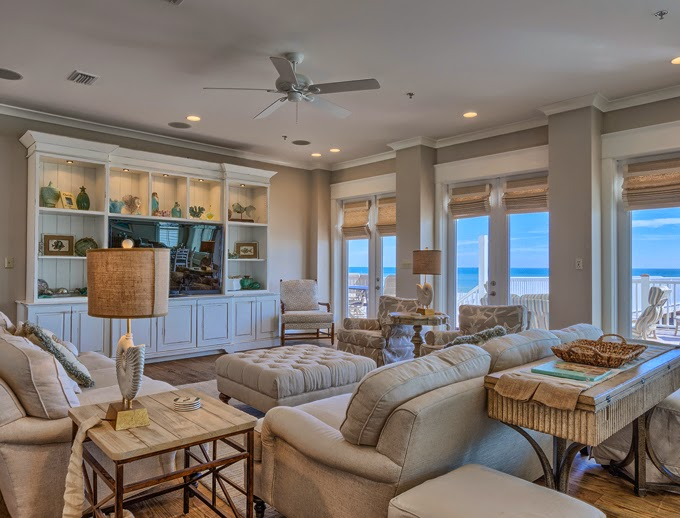 The veranda gulf shores alabama house of turquoise - Open concept living room furniture placement ...
