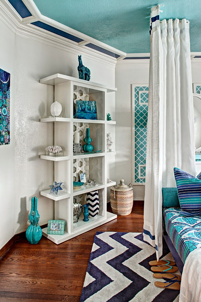 I Hit The Turquoise Jackpot When Came Across This Fabulous Space By Rachel Kapner Principal Designer And President Of Creative Wallcoverings