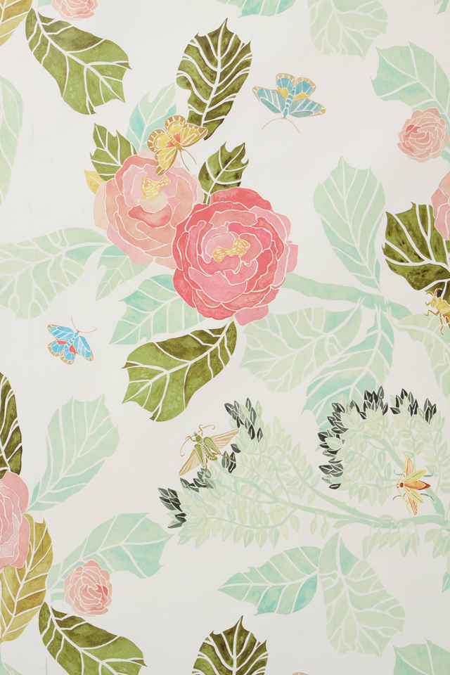 Watercolor Peony Wallpaper House Of Turquoise