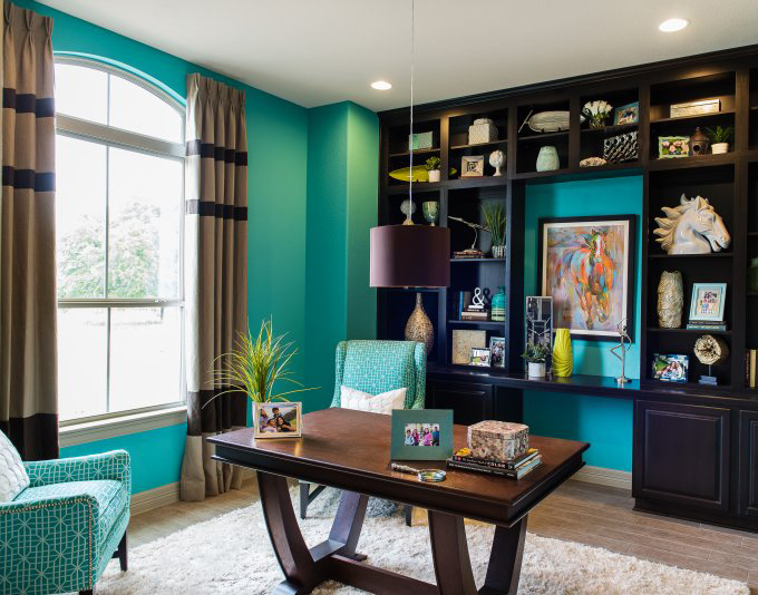 Michelle thomas design house of turquoise for Den study design ideas