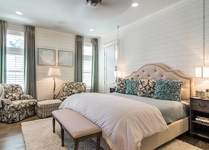Henderson development and design house of turquoise for Beach master bedroom ideas