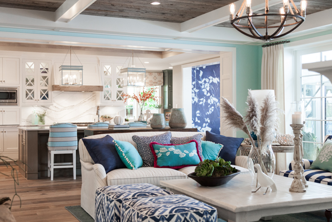 Mpls st paul magazine asid mn showcase home house of turquoise for How to decorate open concept living room