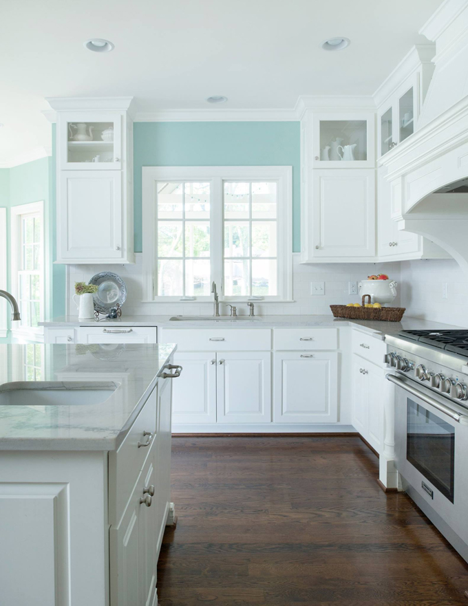 Profile cabinet and design house of turquoise for Blue and white kitchen cabinets