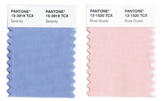 2016 Pantone Color of the Year: Serenity and Rose Quartz
