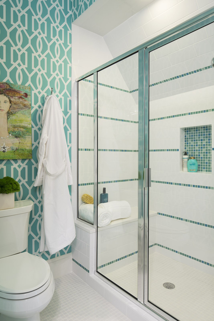 Martha o 39 hara interiors house of turquoise - Turquoise bathroom floor tiles ...