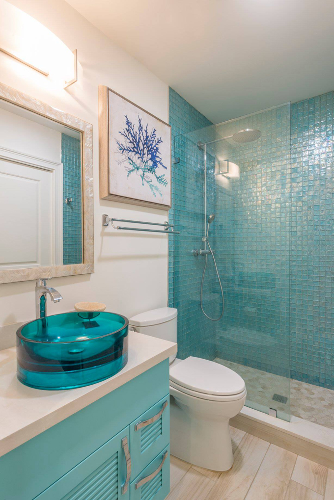 Perfect Turquoise Vanity  Contemporary  Bathroom  Philip Gorrivan Design
