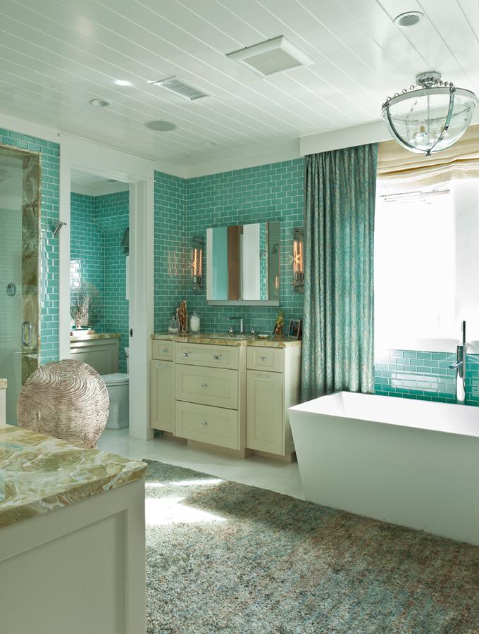 Turquoise bathroom turquoise blue bathroom vanity design for Aqua bathroom ideas