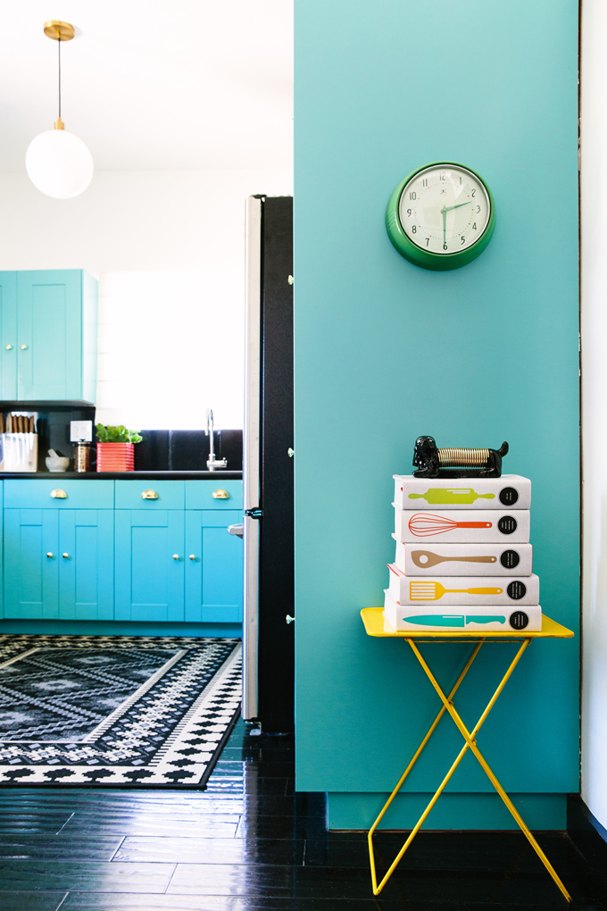 terrific blue yellow kitchen decor | Black Lacquer Design | House of Turquoise