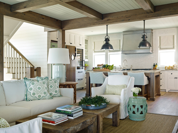 Ts adams studio architects house of turquoise - Beach house interior design ...