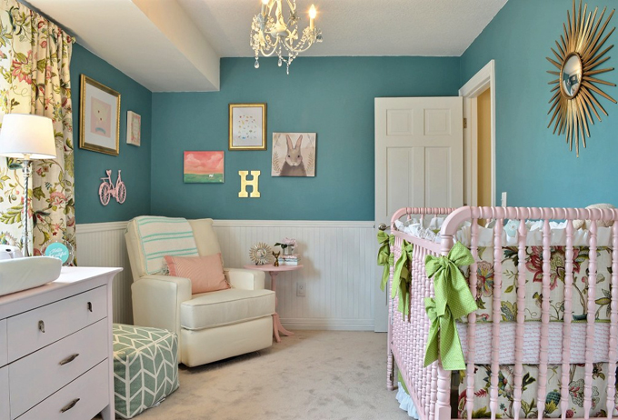 Teal and Pink Nursery