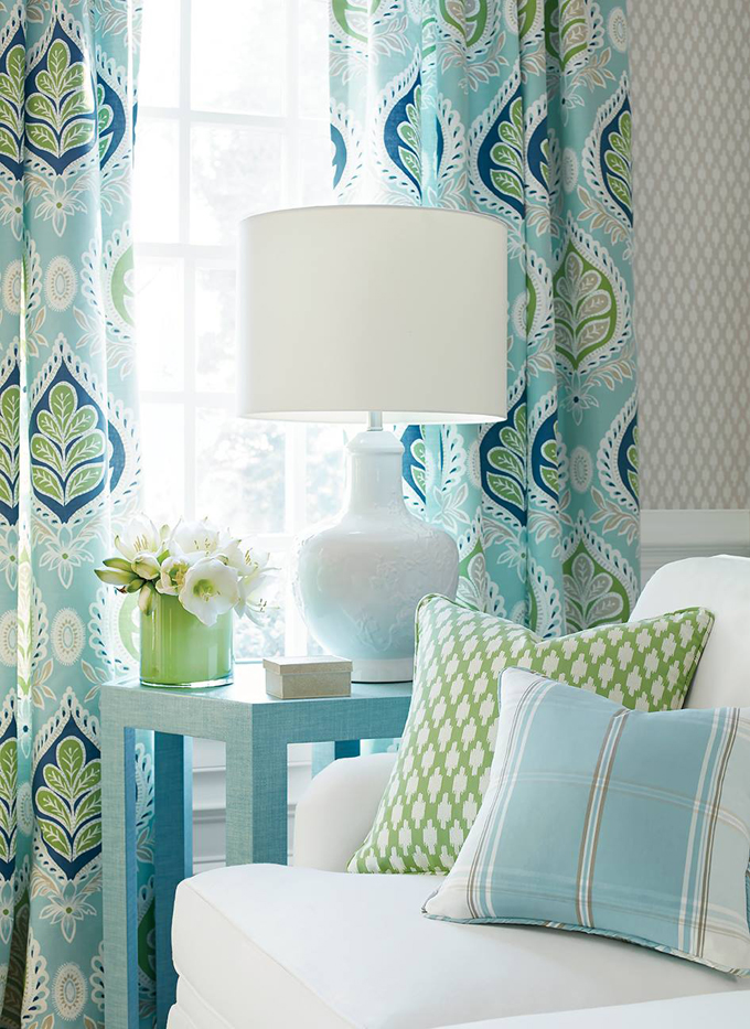 2017 pantone color of the year greenery house of turquoise - Turquoise curtains for living room ...