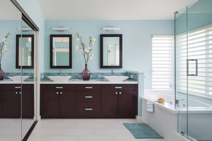 New Thanks to interior designer Gail E Jamentz of Pasadena based Soul Interiors Design I am back to being obsessed with remodeling our master bath uthere