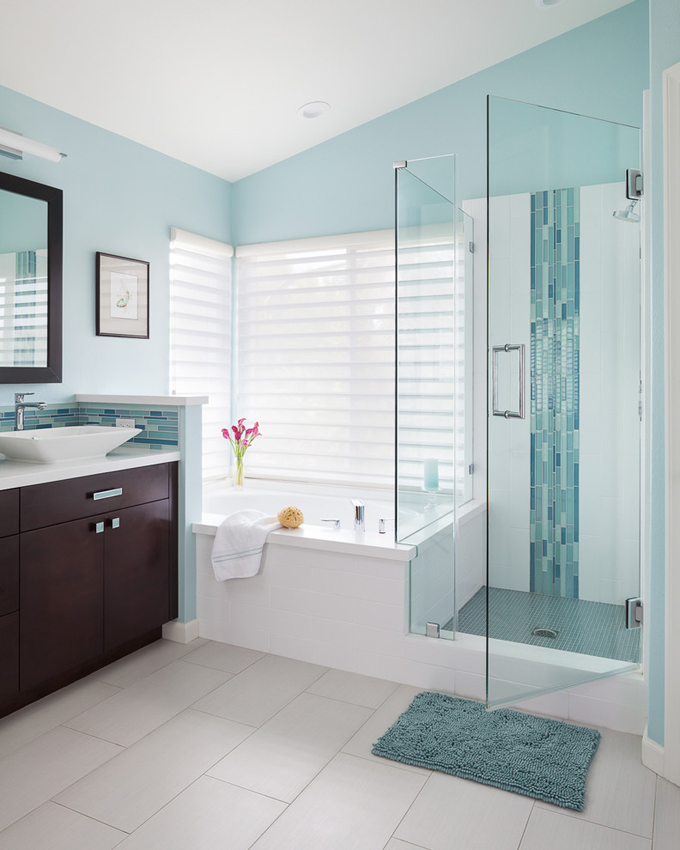 Soul interiors design house of turquoise for Bathroom decor color schemes