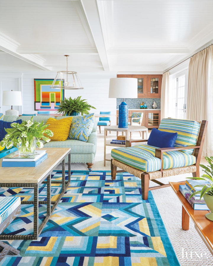 Green Living Room Ideas In East Hampton New York: House Of Turquoise