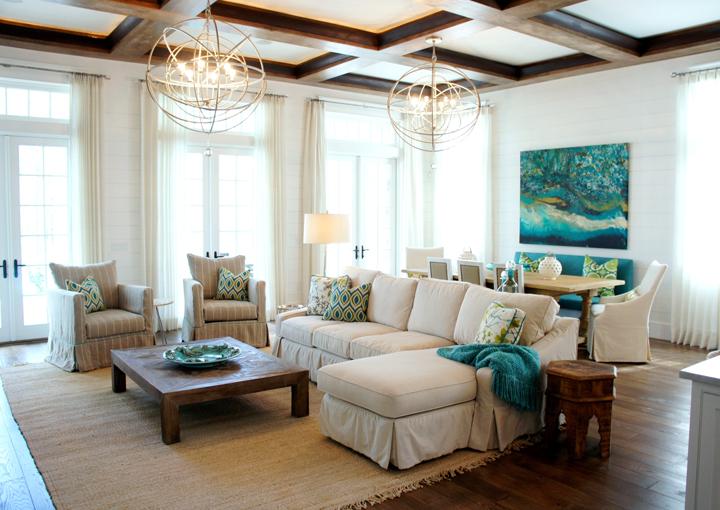 Cara mcbroom house of turquoise - Beach house living room ...