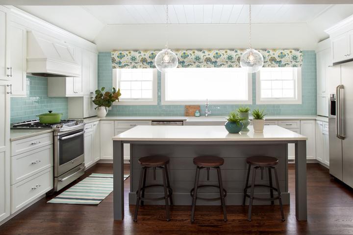 turquoise kitchen backsplash