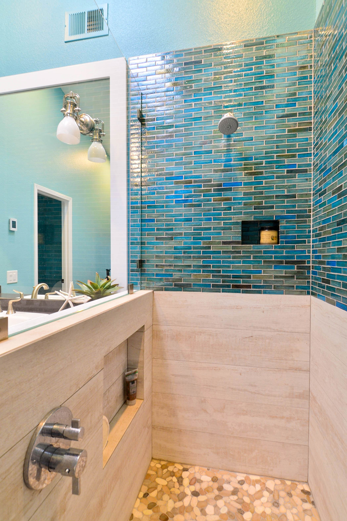 turquoise shower