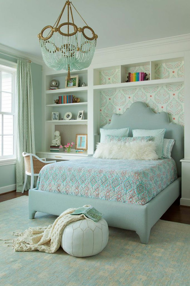 Ryland witt interior design house of turquoise bloglovin for Blue and peach bedroom ideas